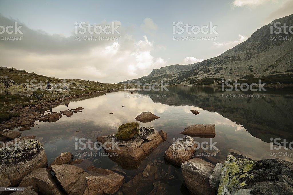 Glaciar lake stock photo