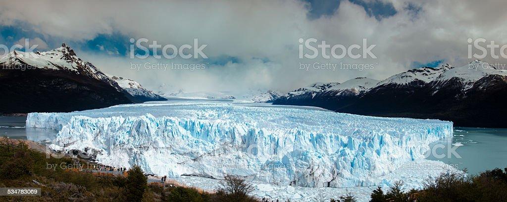 glaciar perito moreno patagonia, argentina, VISTA PANORÁMICA - foto de stock