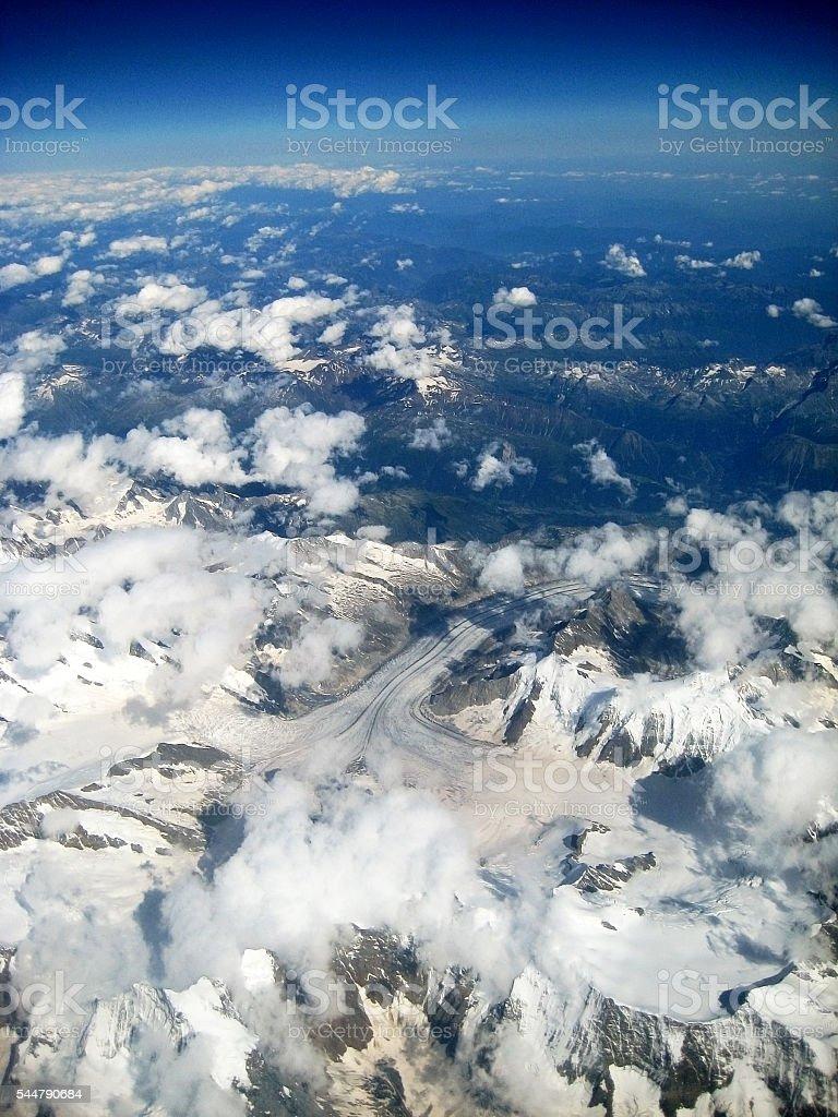 Glacier Aletschgletscher - Bettmeralp stock photo