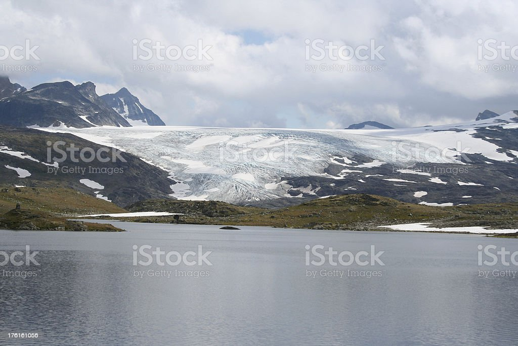 Glacier and Lake, Norway stock photo
