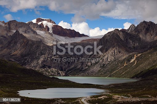 Glacier and lakes in Tibet