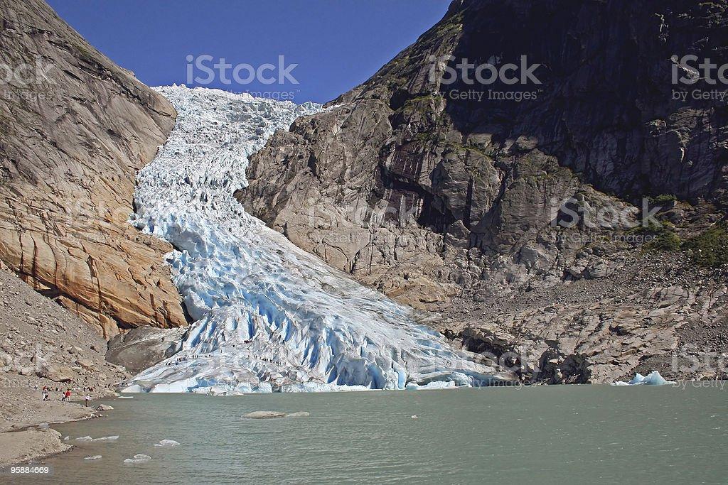 Glacier Briksdal royalty-free stock photo
