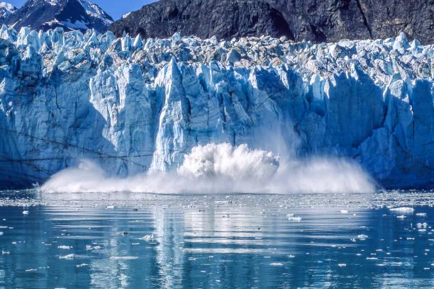 빙하 빙하 베이 국립 공원으로 벌판 - 빙하 뉴스 사진 이미지