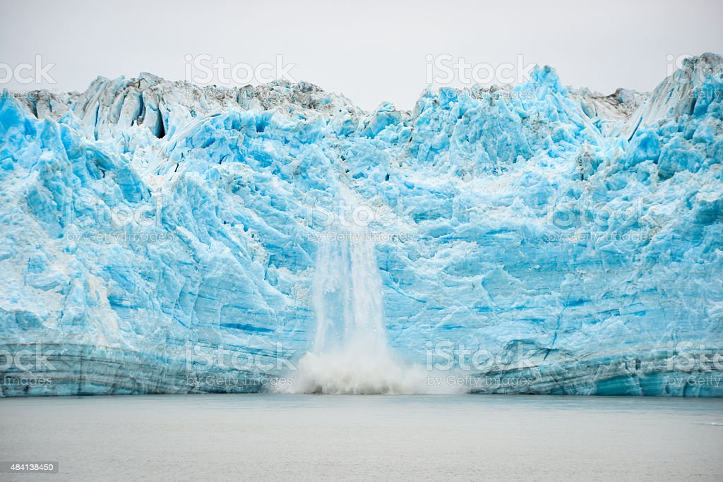 Glacier Calving - Natural Phenomenon stock photo