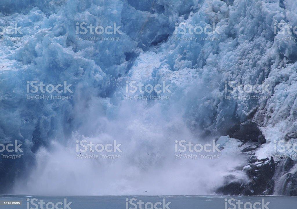 Glacier calving royalty-free stock photo
