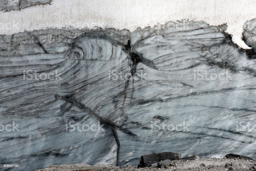 Glacier Close Up stock photo