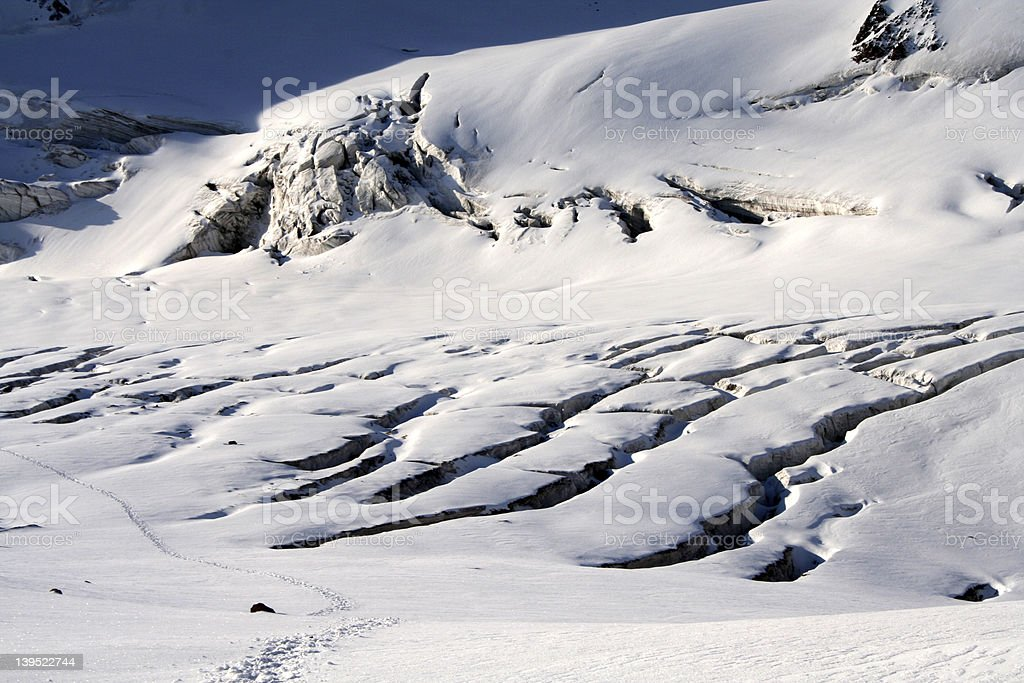 Glacier crack royalty-free stock photo