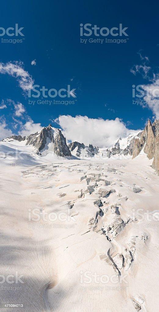 Glacier crevasses Alpine wilderness royalty-free stock photo
