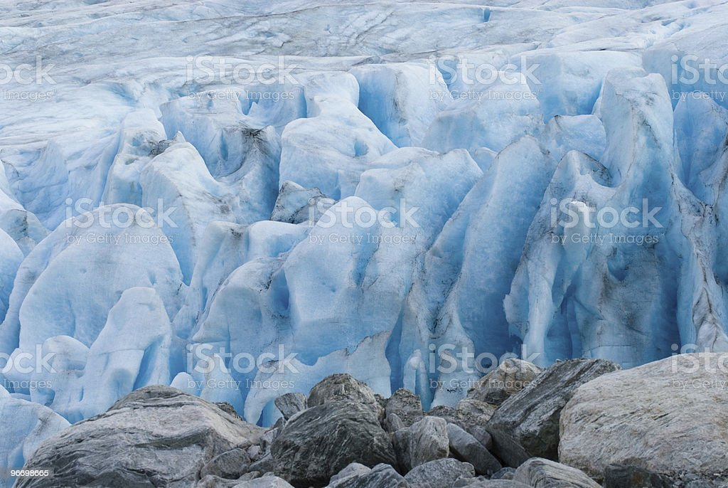 Glacier crevasses royalty-free stock photo
