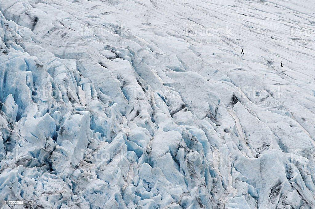Glacier crossing royalty-free stock photo