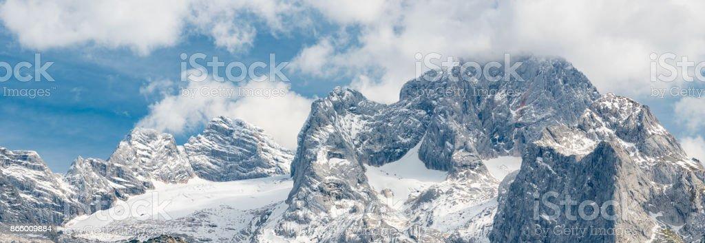 Glacier Dachstein Panorama, September 2017, Austria stock photo