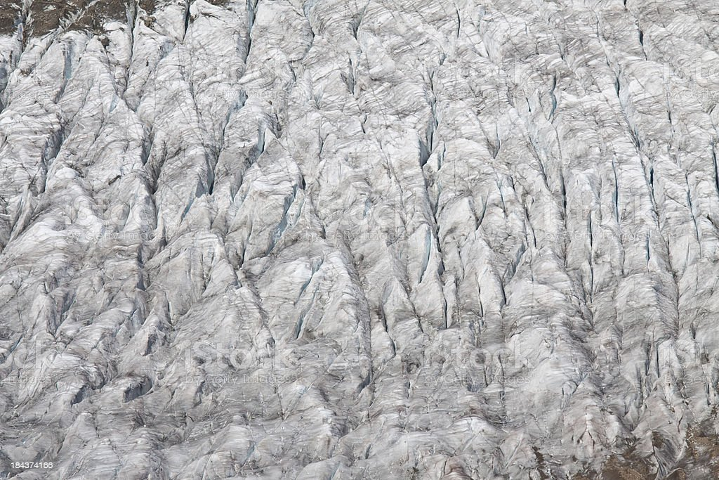 Glacier detail, Wallis, Switzerland stock photo