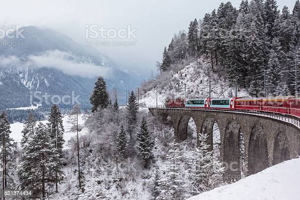 Glacier Express Switzerland Stock Photo - Download Image Now