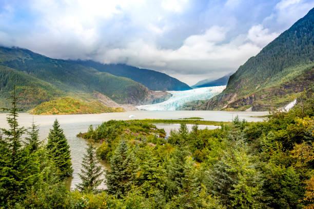 Glacier from Mendenhall Glacier National Park stock photo
