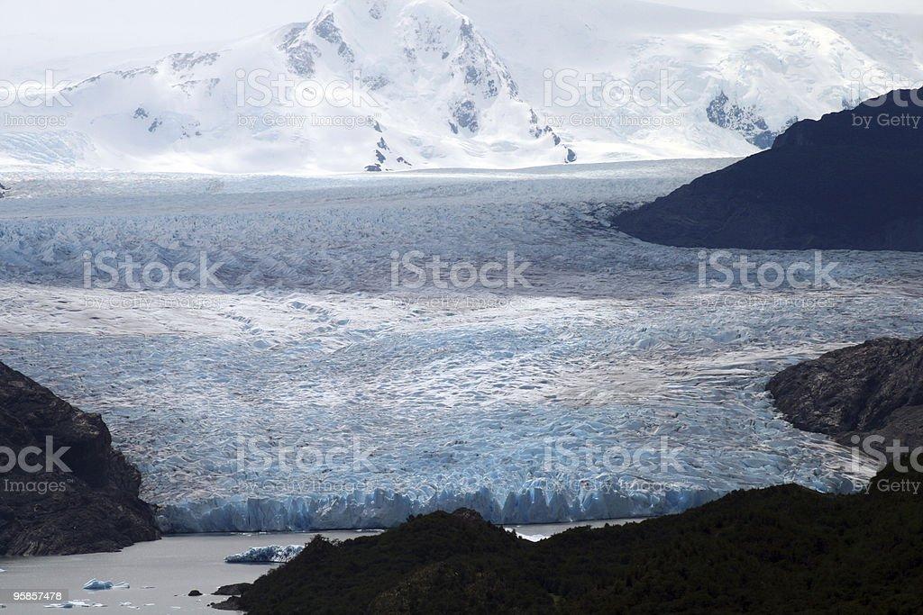 Gletscher-Grau in chilenischen Patagonien – Foto