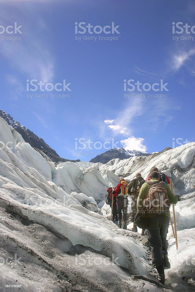 Glacier Hike stock photo