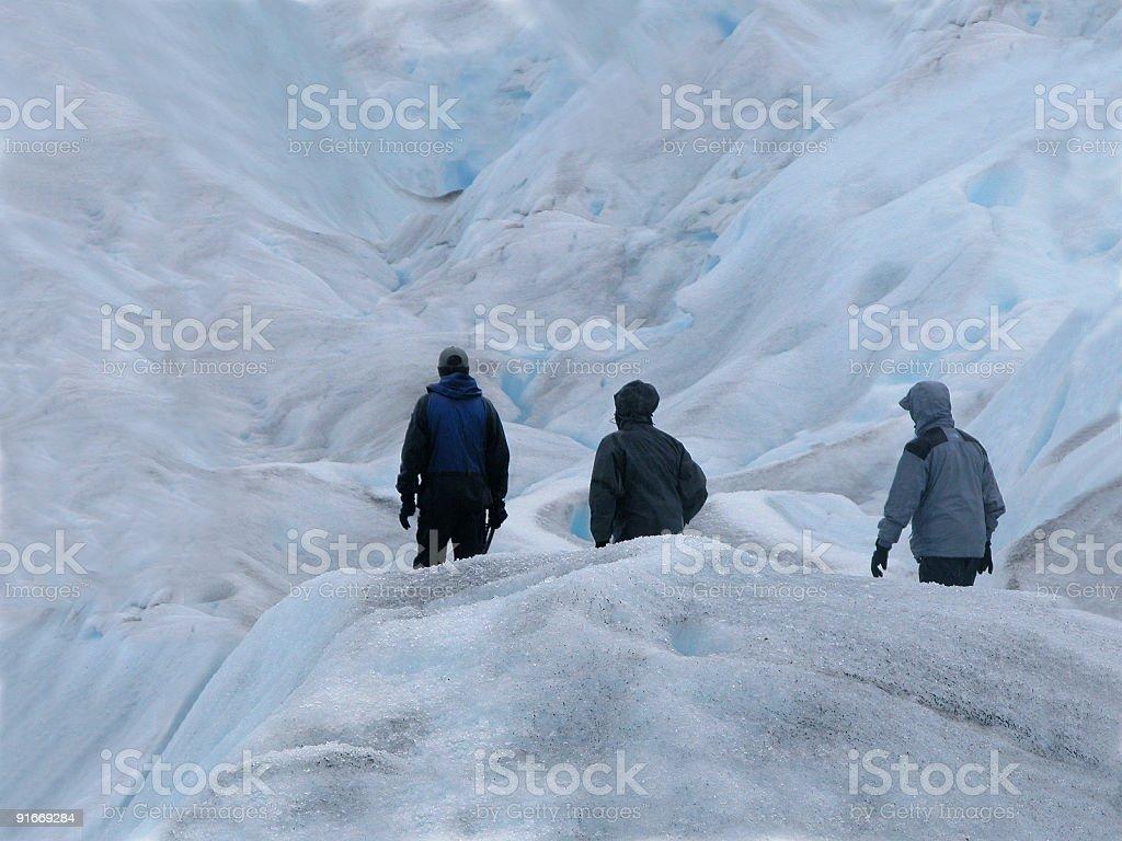 Glacier Hike royalty-free stock photo