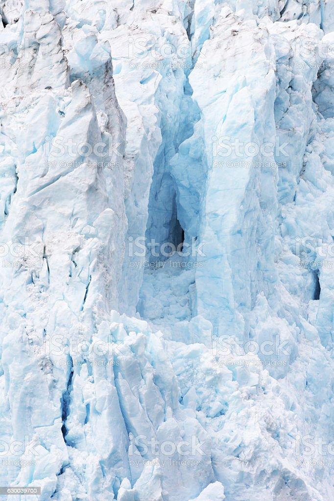 Glacier Ice Snow Crevasse Serac Cave stock photo
