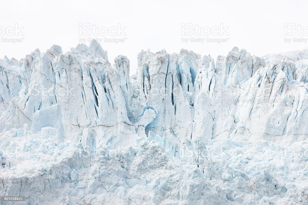 Glacier Ice Snow Crevasse Serac Ridge stock photo