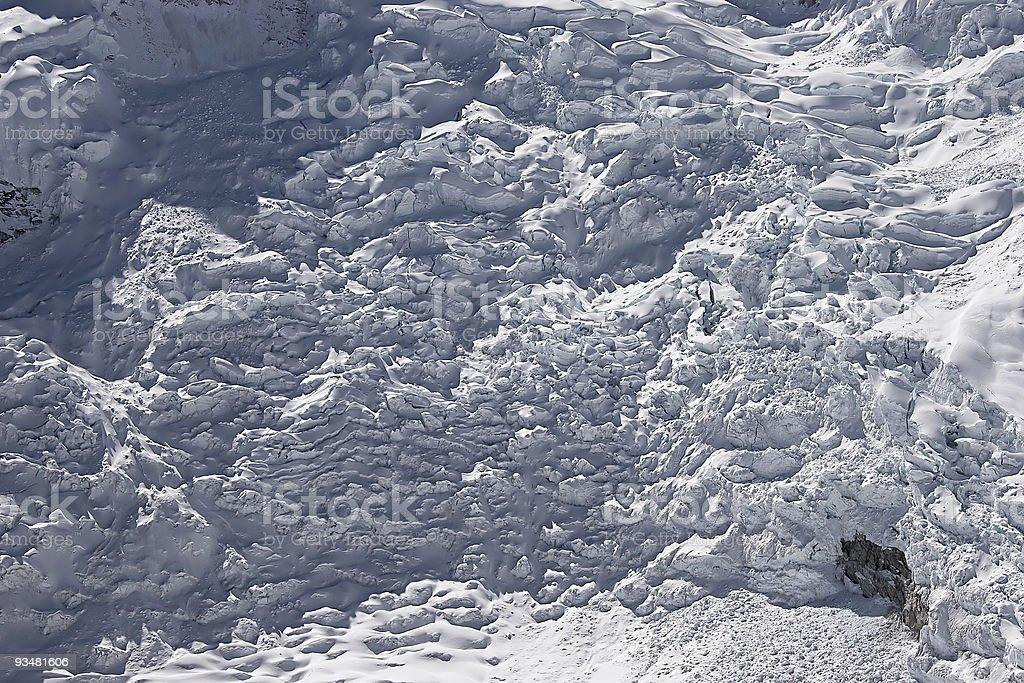 Glacier icefall panorama royalty-free stock photo