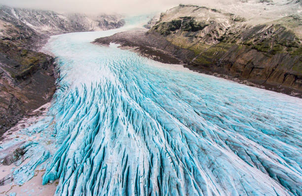 glacier iceland - заповедник дикой природы стоковые фото и изображения