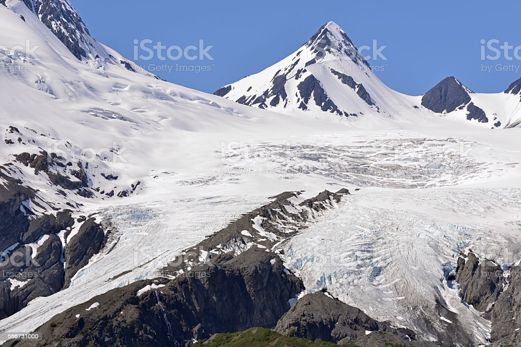 Glacier in Alaska stock photo
