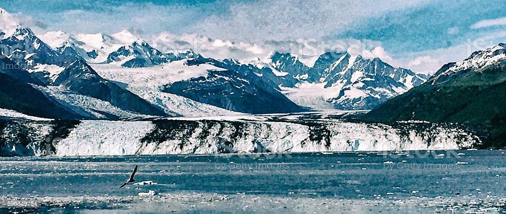 Glacier in Alaska royalty-free stock photo