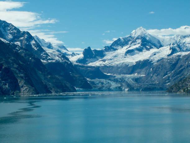 Glacier in Alaskan Bay stock photo