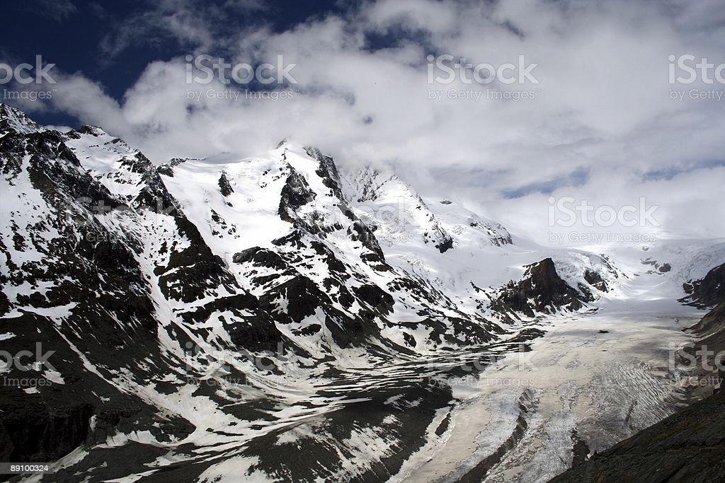 Gletscher in den österreichischen Alpen Lizenzfreies stock-foto