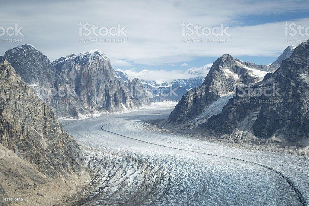 Glacier in Denali (Mt. McKinley) royalty-free stock photo