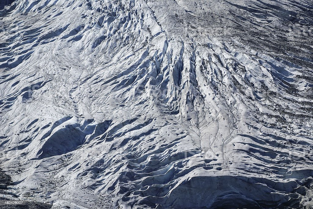 Glacier in Gadmen, Switzerland stock photo
