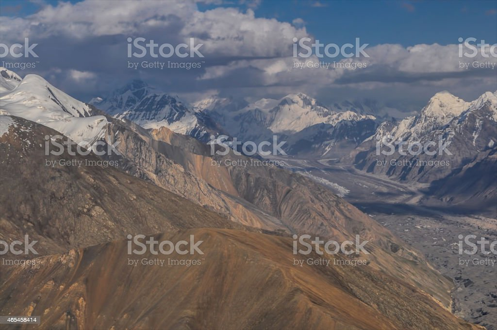 Glacier in Kyrgyzstan stock photo