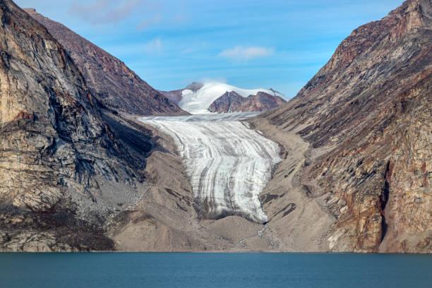 Glacier in Sam Ford Fjord on Baffin Island in Nunavut, Canada. stock photo