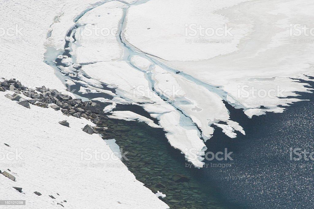 Glacier in spring royalty-free stock photo