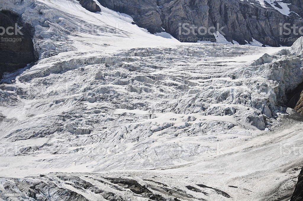Glacier in Switzerland royalty-free stock photo