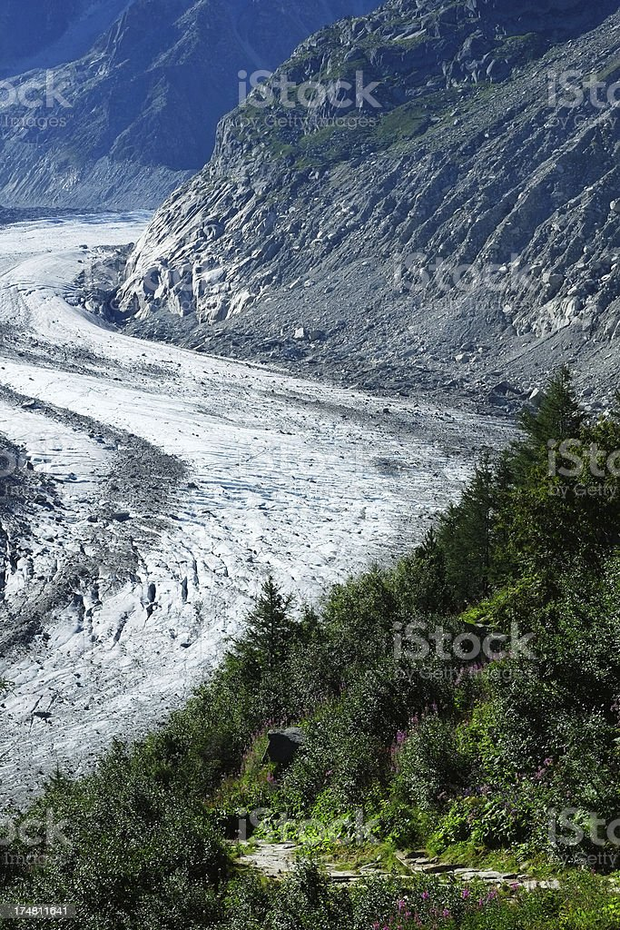 Glacier in the Alps royalty-free stock photo