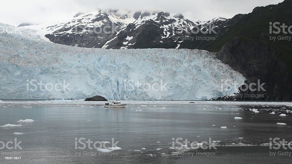 Glacier in the gulf of alaska stock photo
