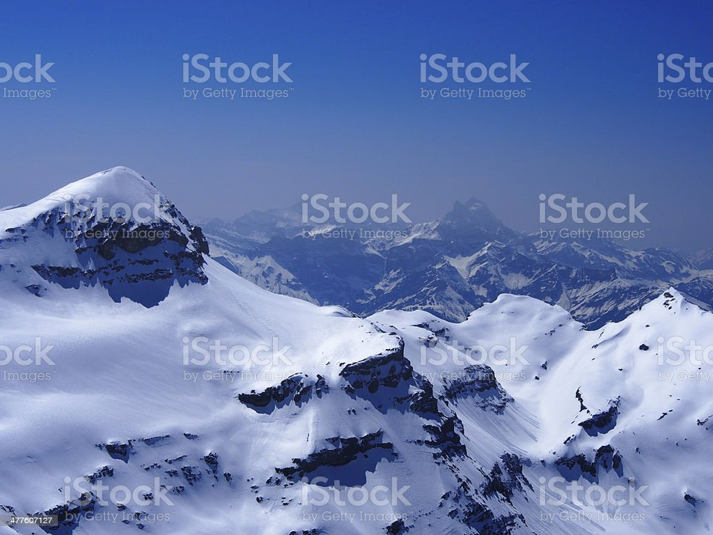 Glacier in the skies royalty-free stock photo