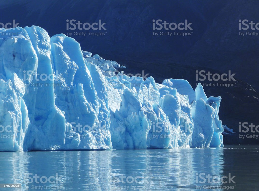 Glacier in Torres del Paine National Park stock photo