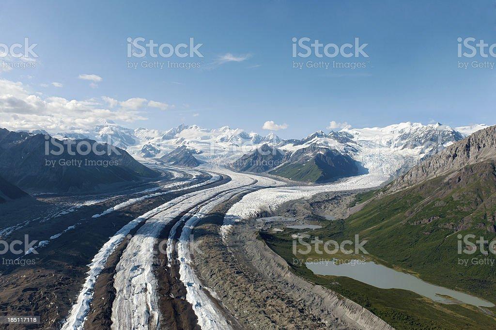 Glacier in Wrangell-St Elias National Park stock photo