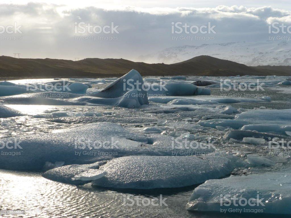 Glacier lagoon, Iceland stock photo