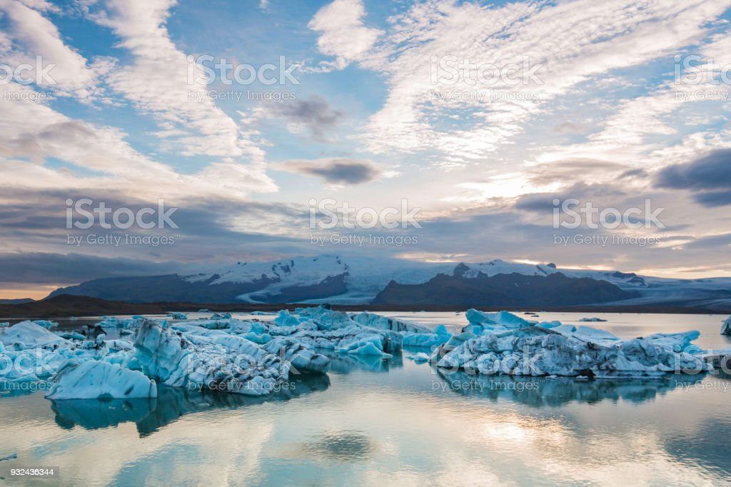 Glacier lagoon jokulsarlon stock photo