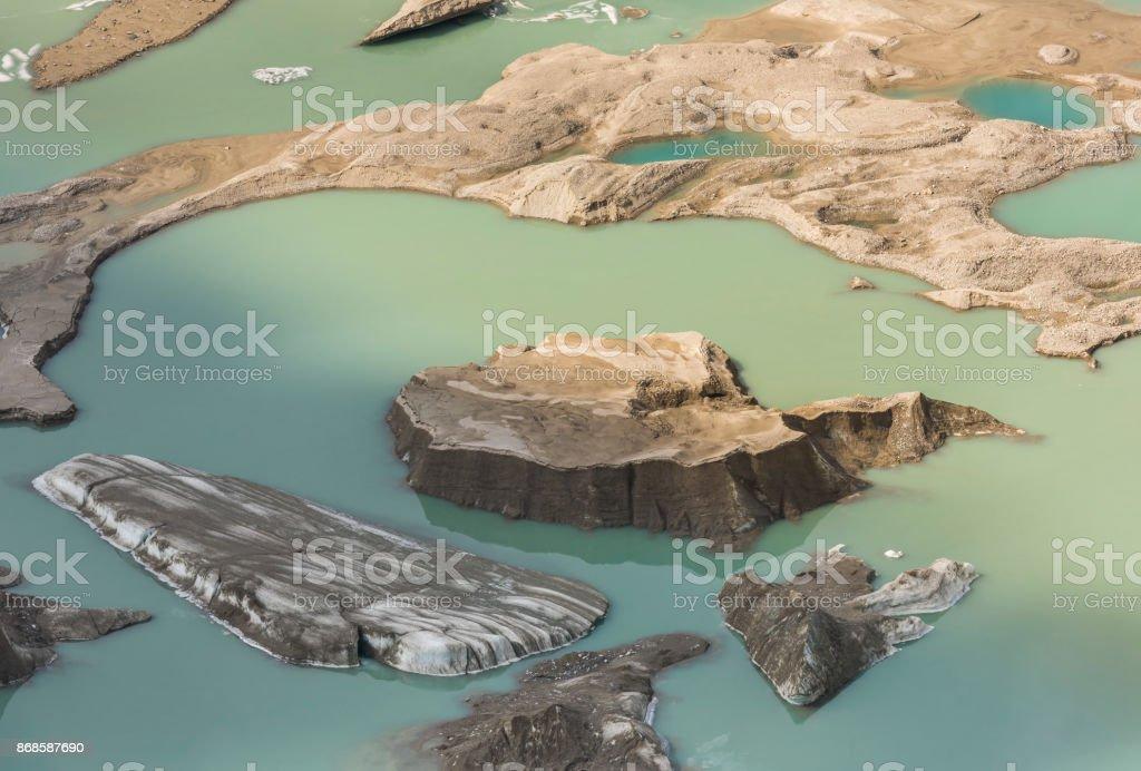 Glacier Lake Grossglockner stock photo