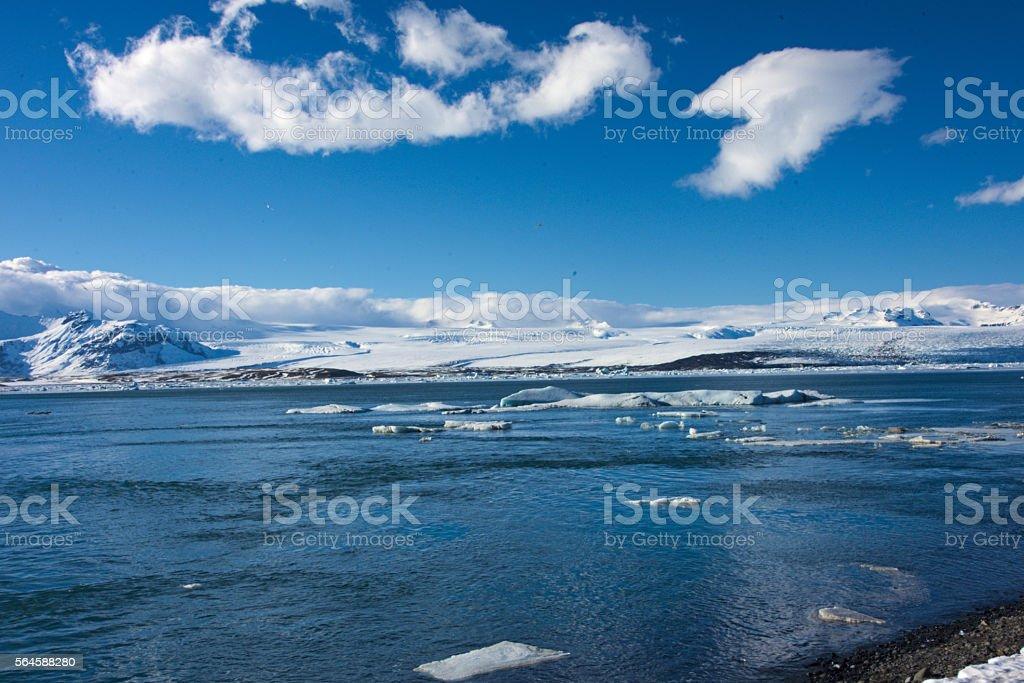 Glacier lake Jökulsarlon stock photo