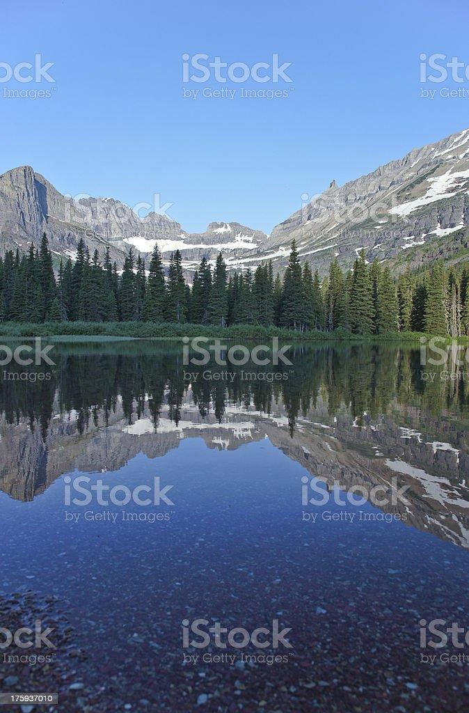Glacier Lake Reflection royalty-free stock photo