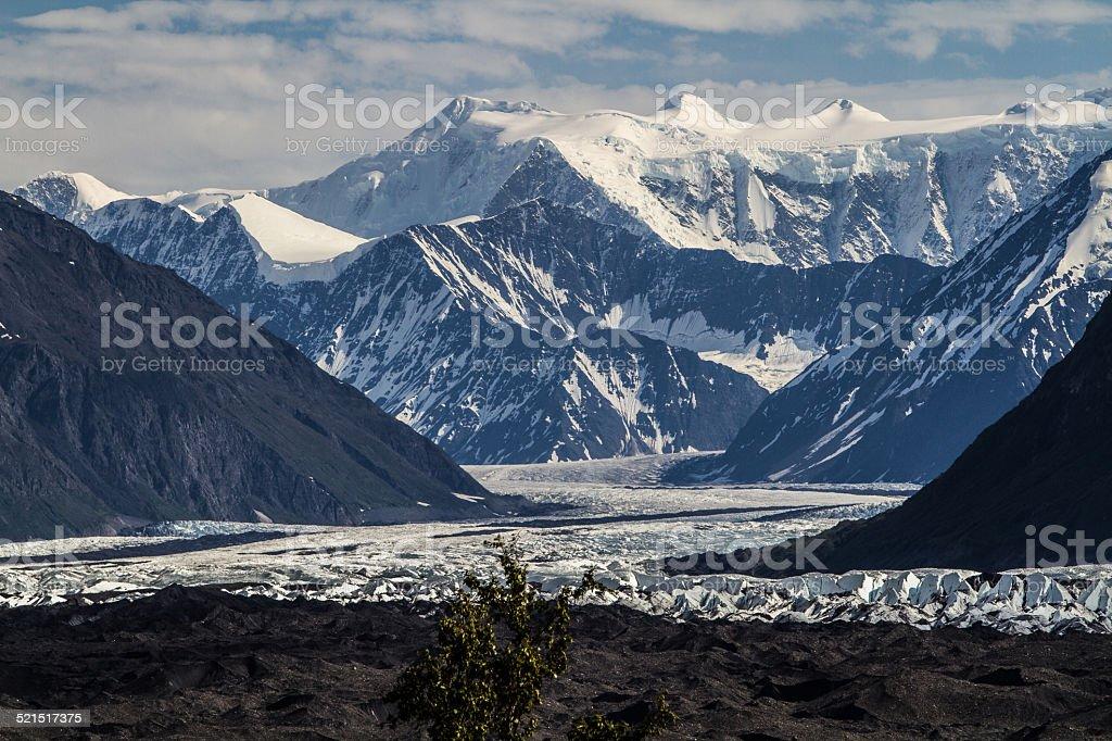 Glacier Matanuska in Alaska stock photo