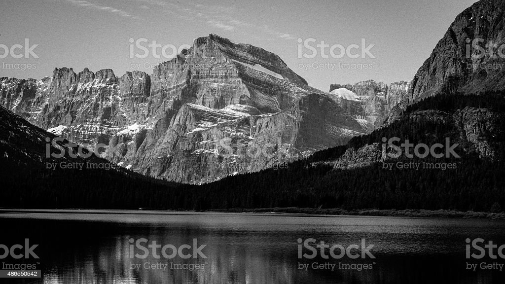 Glacier Mountain Reflections stock photo