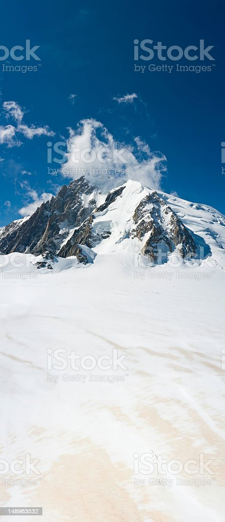 Glacier mountain summit banner royalty-free stock photo