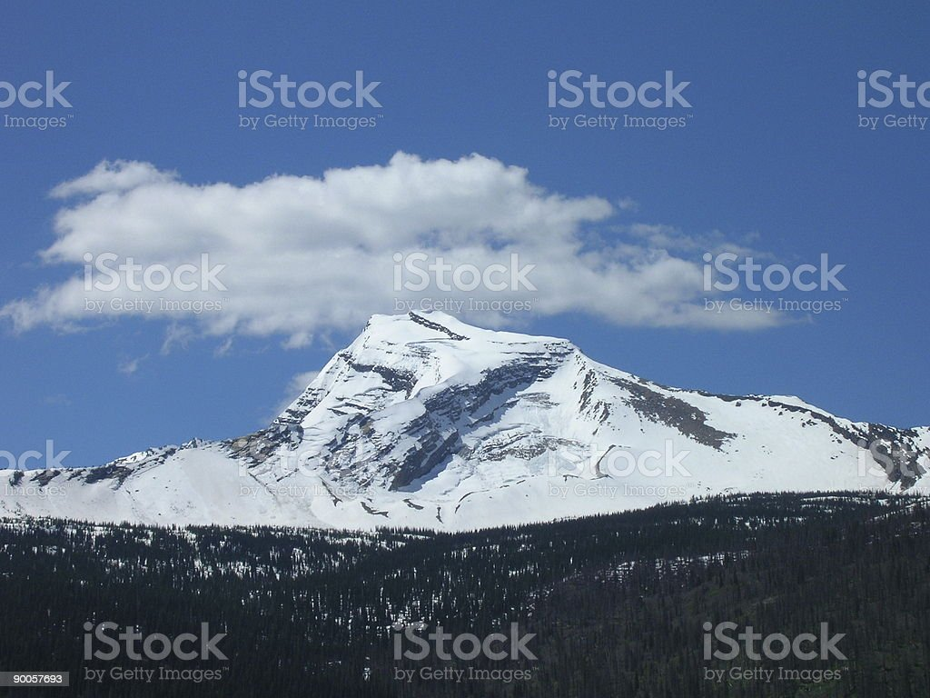 Glacier National Park Heaven's Peak royalty-free stock photo