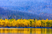 Saint Mary Lake in Glacier National Park in Montana USA